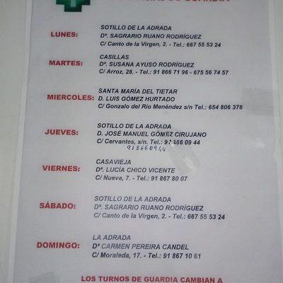 FARMACIAS DE GUARDIA 21-12-2020 AL 27-12-2020
