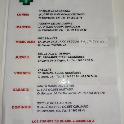 FARMACIAS DE GUARDIA 28-12-2020 AL 03-01-2021
