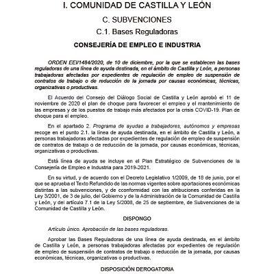 AYUDAS PARA TRABAJADORES EN SITUACIÓN DE ERTES ETOP