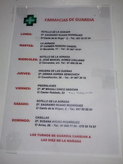 FARMACIAS DE GUARDIA 25-01-2021 AL 31-01-2021