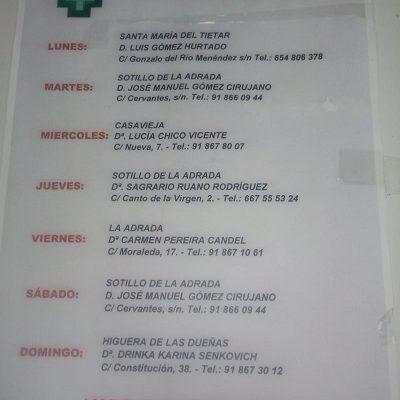 FARMACIAS DE GUARDIA 01-02-2021 AL 07-02-2021