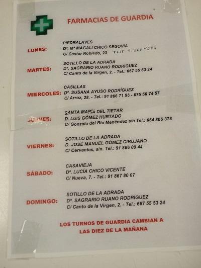 FARMACIAS DE GUARDIA 08-02-2021 AL 14-02-2021