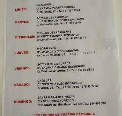 FARMACIAS DE GUARDIA 15-02-2021 AL 21-02-2021