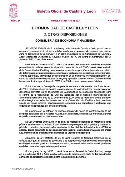 MANTENIMIENTO MEDIDAS SANITARIAS PREVENTIVAS PARA LA CONTENCIÓN DE LA COVID-19