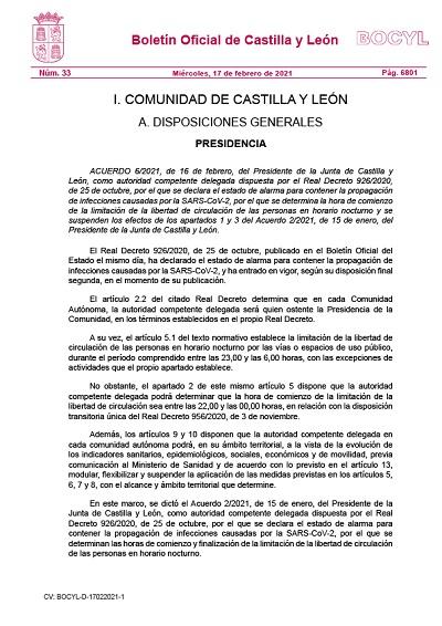 LIMITACIÓN HORARIA DE ESTABLECIMIENTOS, ACTIVIDADES Y SERVICIOS