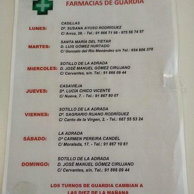 FARMACIAS DE GUARDIA 22-03-2021 AL 28-03-2021