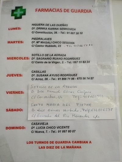 FARMACIAS DE GUARDIA 29-03-2021 AL 04-04-2021