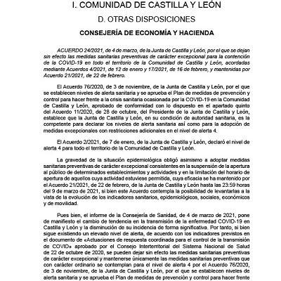 PÉRDIDA DE EFECTOS DE LAS MEDIDAS SANITARIAS PREVENTIVAS DE CARÁCTER EXCEPCIONAL