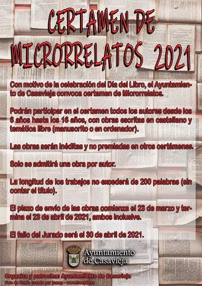 CERTAMEN DE MICRORRELATOS  2021