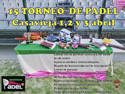 XV TORNEO DE PÁDEL CASAVIEJA