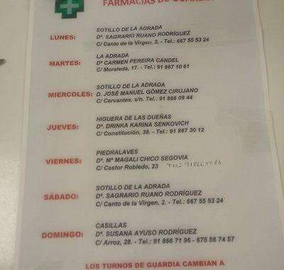 FARMACIAS DE GUARDIA 05-04-2021 AL 11-04-2021