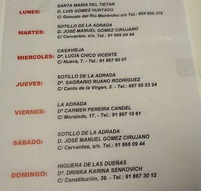 FARMACIAS DE GUARDIA 12-04-2021 AL 18-04-2021