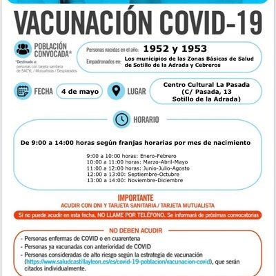 VACUNACIÓN COVID-19 NACIDOS EN 1952 Y 1953