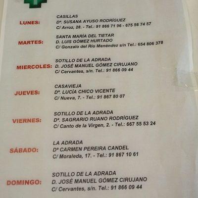 FARMACIAS DE GUARDIA 31-05-2021 AL 06-06-2021