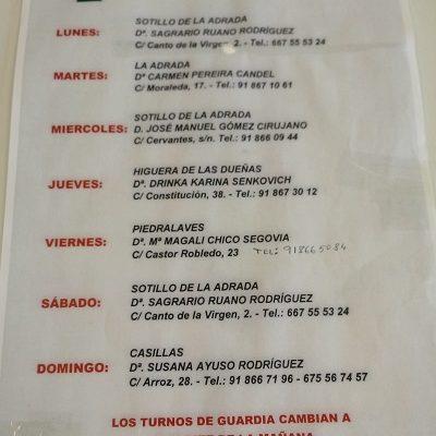 FARMACIAS DE GUARDIA 14-06-2021 AL 20-06-2021