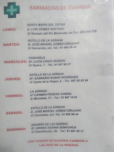 FARMACIAS DE GUARDIA 21-06-2021 AL 27-06-2021