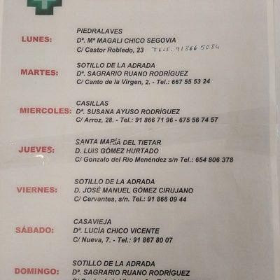 FARMACIAS DE GUARDIA 28-06-2021 AL 04-07-2021