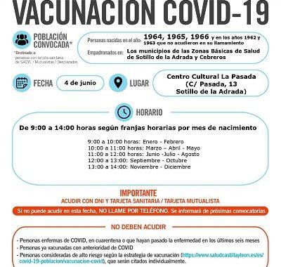 VACUNACIÓN COVID-19 NACIDOS EN 1964, 1965 Y 1966, Y EN LOS AÑOS 1962 Y 1963 QUE NO ACUDIERON EN SU LLAMAMIENTO