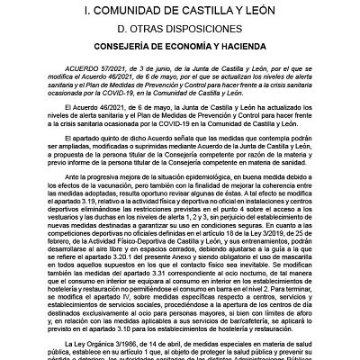 ACTUALIZACIÓN DE LOS NIVELES DE ALERTA SANITARIA EN LA COMUNIDAD DE CASTILLA Y LEÓN