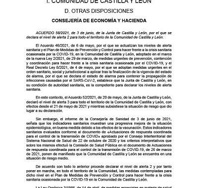 DECLARACIÓN DE NIVEL 2 PARA TODA LA COMUNIDAD DE CASTILLA Y LEÓN