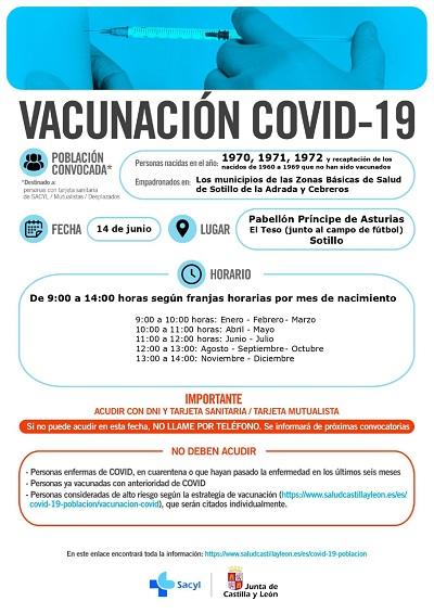 VACUNACIÓN COVID-19 NACIDOS EN 1970, 1971 Y 1972, Y ENTRE LOS AÑOS 1960 Y 1969 QUE NO HAN SIDO VACUNADOS
