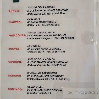 FARMACIAS DE GUARDIA 12-07-2021 AL 18-07-2021