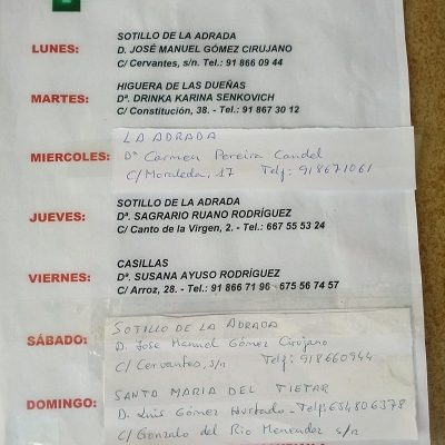 FARMACIAS DE GUARDIA 26-07-2021 AL 01-08-2021