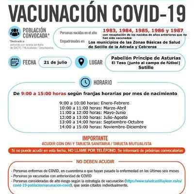 VACUNACIÓN COVID-19 NACIDOS EN 1983, 1984, 1985, 1986 Y 1987, Y AÑOS ANTERIORES QUE NO HAN SIDO VACUNADOS