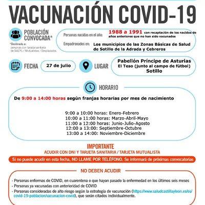 VACUNACIÓN COVID-19 NACIDOS ENTRE 1988 Y 1991, Y AÑOS ANTERIORES QUE NO HAN SIDO VACUNADOS