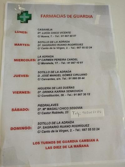 FARMACIAS DE GUARDIA 02-08-2021 AL 08-08-2021