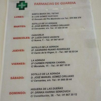 FARMACIAS DE GUARDIA 30-08-2021 AL 05-09-2021