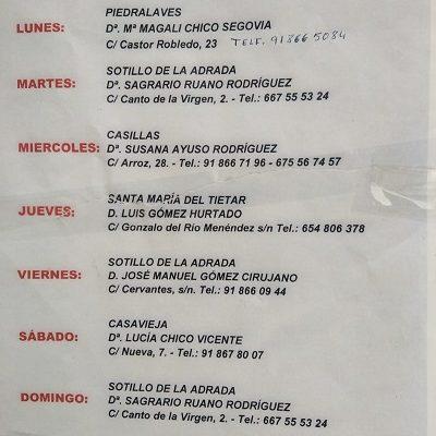 FARMACIAS DE GUARDIA 06-09-2021 AL 12-09-2021