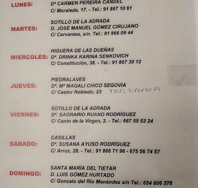 FARMACIAS DE GUARDIA 13-09-2021 AL 19-09-2021