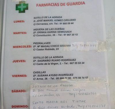 FARMACIAS DE GUARDIA 04-10-2021 AL 10-10-2021