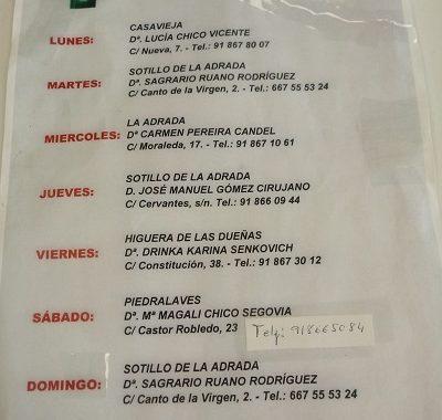 FARMACIAS DE GUARDIA 11-10-2021 AL 17-10-2021