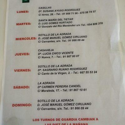 FARMACIAS DE GUARDIA 18-10-2021 AL 24-10-2021
